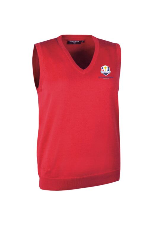 Official Ryder Cup 2018 Ladies V Neck Cotton Golf Slipover