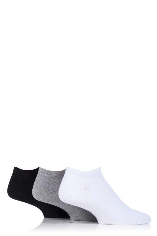 Mens 3 Pair Bamboo Trainer Socks