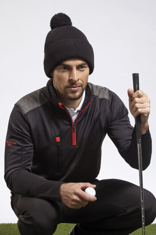 Mens Zip Neck Shoulder Panel Detail Performance Golf Midlayer - Sale