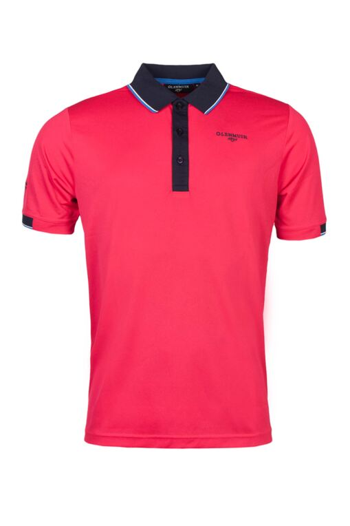 Mens Contrast Tipped Collar and Cuff Performance Pique Golf Polo Shirt