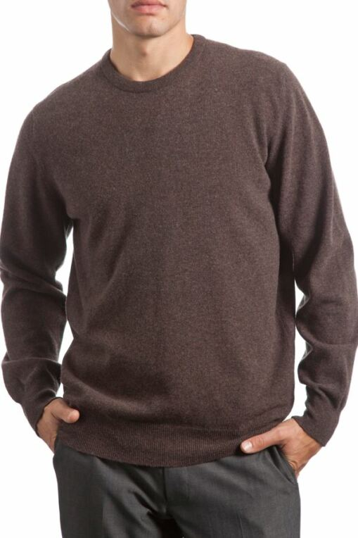 Heritage 100% Extrafine Lambswool Plain Crew Neck Classic Fit Sweater - Sale