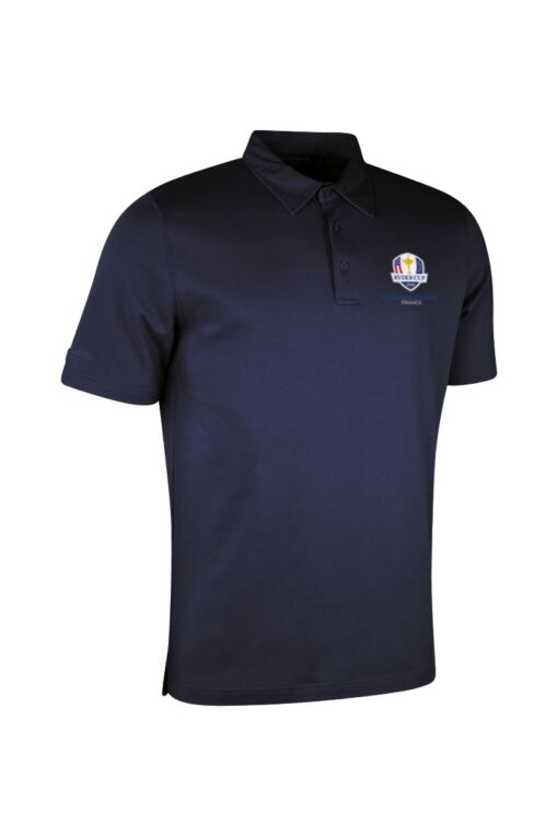 Official Ryder Cup 2018 Mens Luxury Pima Cotton Golf Polo Shirt