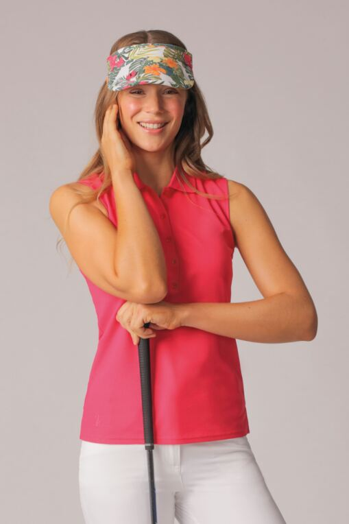 Ladies Performance Pique Sleeveless Polo - Sale