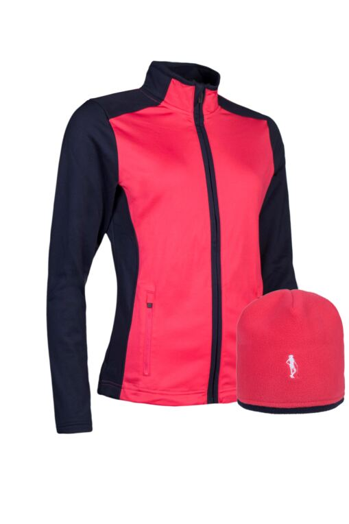 Ladies Zip Front Performance Golf Midlayer & Hat Gift Box