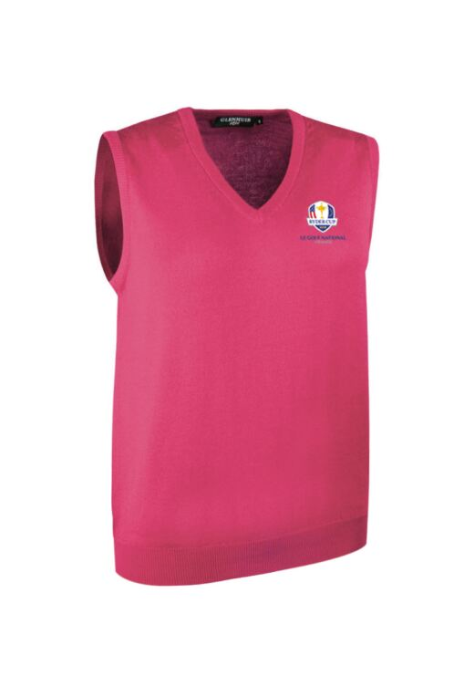 Official Ryder Cup 2018 Ladies V Neck Merino Wool Golf Slipover