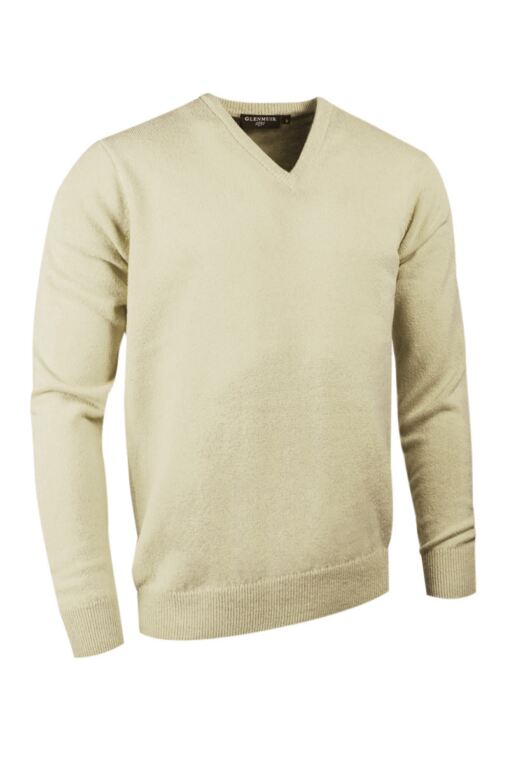 Mens V Neck Cashmere Golf Sweater