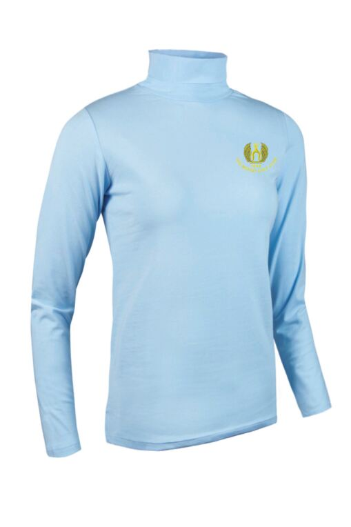 Moffat GC Ladies Roll Neck Long Sleeve Cotton Golf Shirt