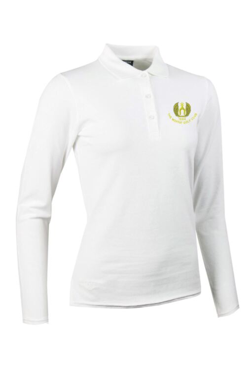 Moffat GC Ladies Long Sleeve Cotton Pique Polo Shirt