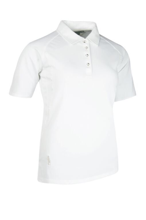 Ladies Mid Length Sleeve with Grosgrain Ribbon Piping Performance Pique Golf Polo Shirt