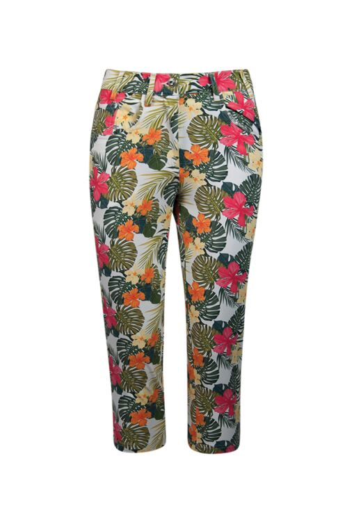 Ladies Lightweight Stretch Printed Capri Pants - Sale