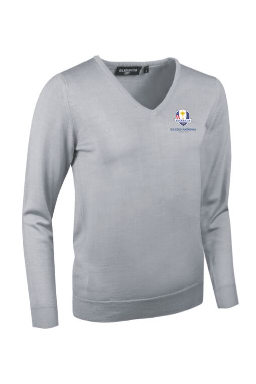 Official Ryder Cup 2018 Ladies V Neck Merino Wool Golf Sweater