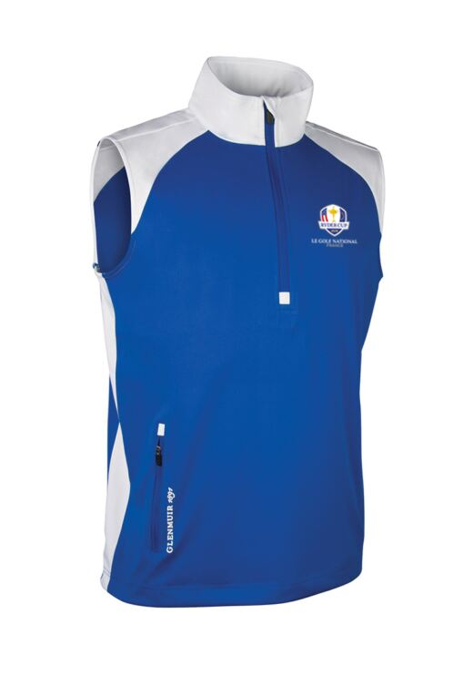 Official Ryder Cup 2018 Mens Zip Neck Showerproof Performance Golf Wind Gilet
