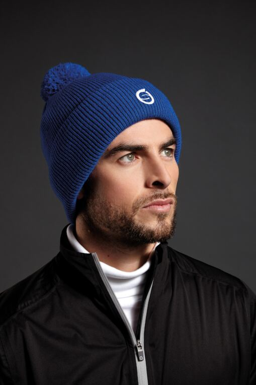 Mens And Ladies Embroidered Thermal Lined Merino Golf Bobble Hat