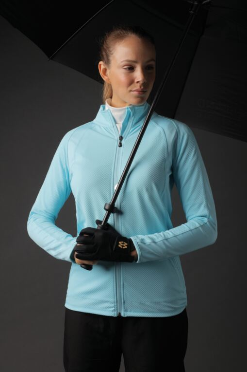 Ladies Zip Front Textured Performance Golf Midlayer