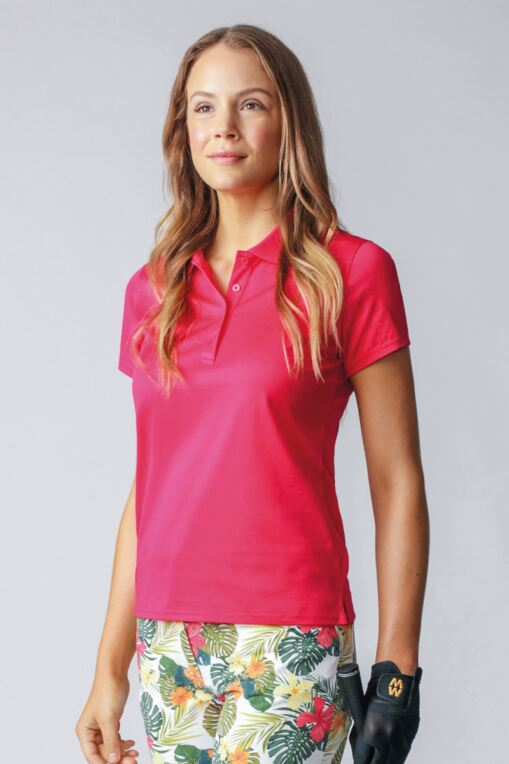 Ladies Plain Mercerised Cotton Golf Polo Shirt