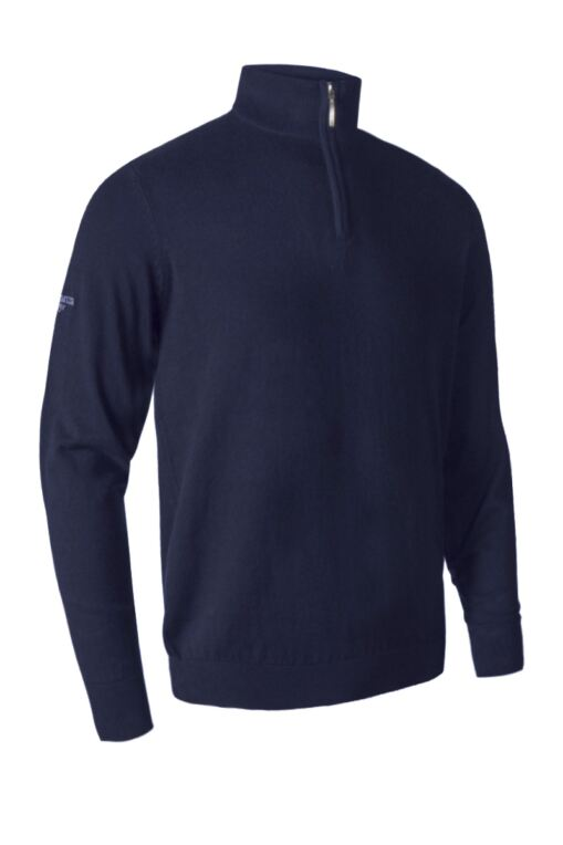 Mens Zip Neck Touch of Cashmere Sweater Gift Box