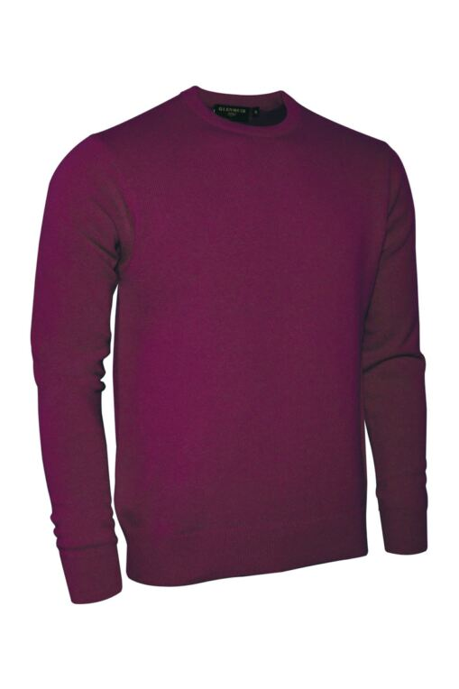 Mens Crew Neck Lambswool Golf Sweater