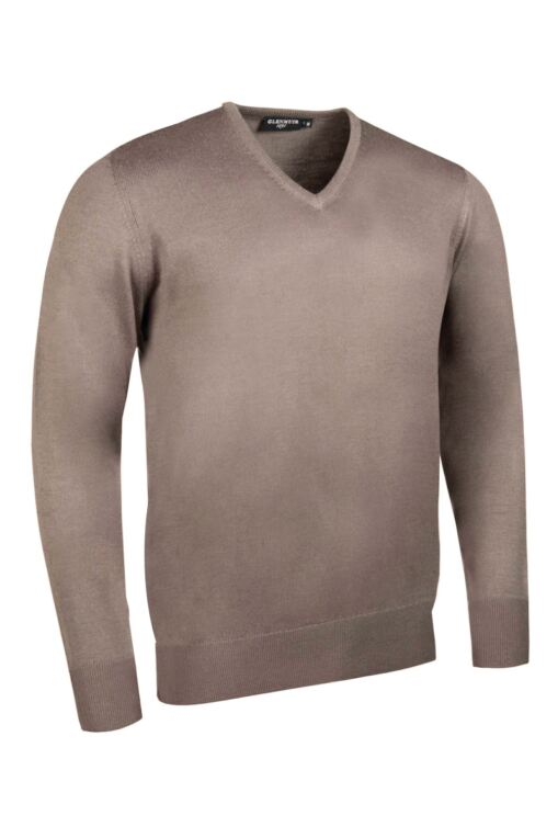 Mens V Neck Merino Wool Golf Sweater