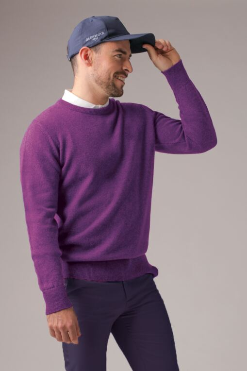 Morar Lambswool Round Crew Neck Golf Sweater - Sale