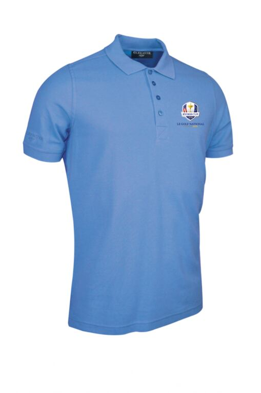 Official Ryder Cup 2018 Mens Classic Cotton Pique Polo Shirt