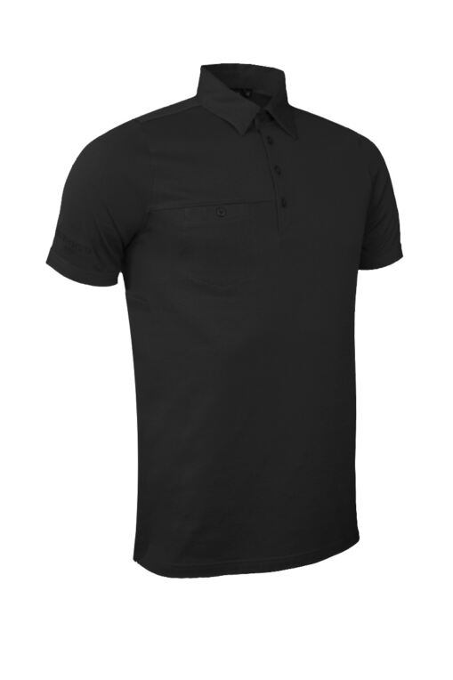 Mens Chest Pocket Performance Cotton Golf Polo Shirt