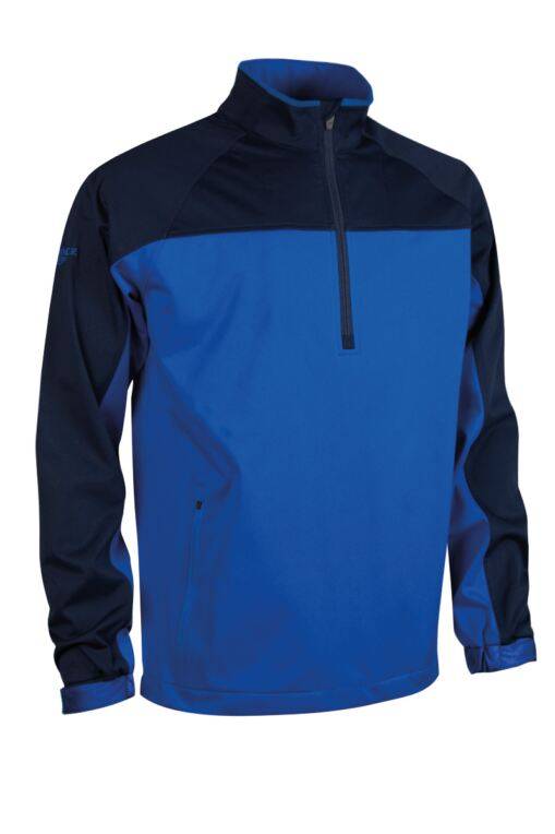 Mens Zip Neck Two Tone Water Repellent Performance Golf Windshirt - Sale