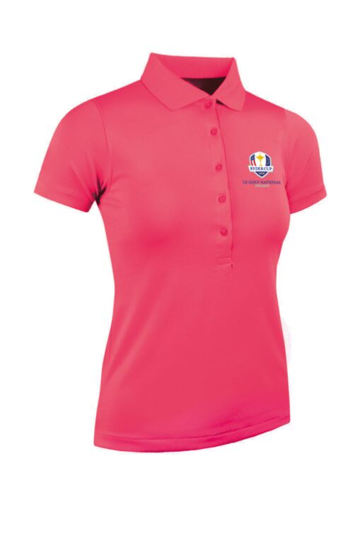 Official Ryder Cup 2018 Ladies Performance Pique Moisture Wicking Golf Polo Shirt