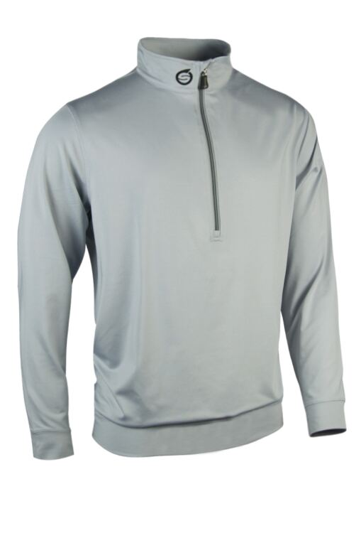 Mens Zip Neck Performance Golf Midlayer