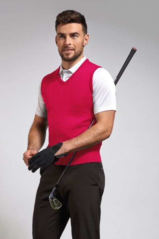 Mens Merino Wool Golf Slipover - Sale