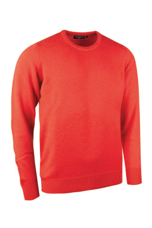 Mens Crew Neck Cashmere Golf Sweater