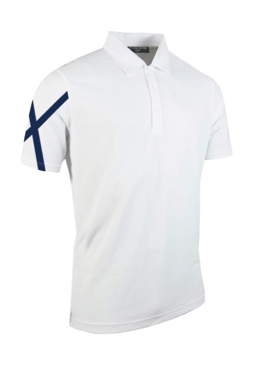 Mens Saltire Performance Pique Moisture Wicking Golf Polo Shirt