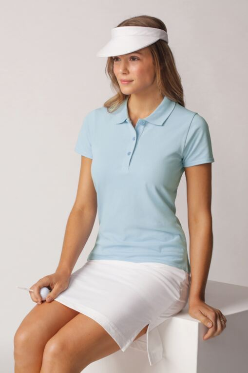 3cb34c223 Sophie Shaped Fit Cotton Golf Polo Shirt - Sale