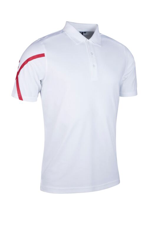 Mens St George Cross Performance Pique Golf Polo Shirt