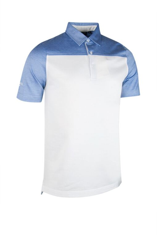 7e2facba Mens Cross Dyed Shoulder and Sleeve Mercerised Cotton Golf Polo Shirt - Sale