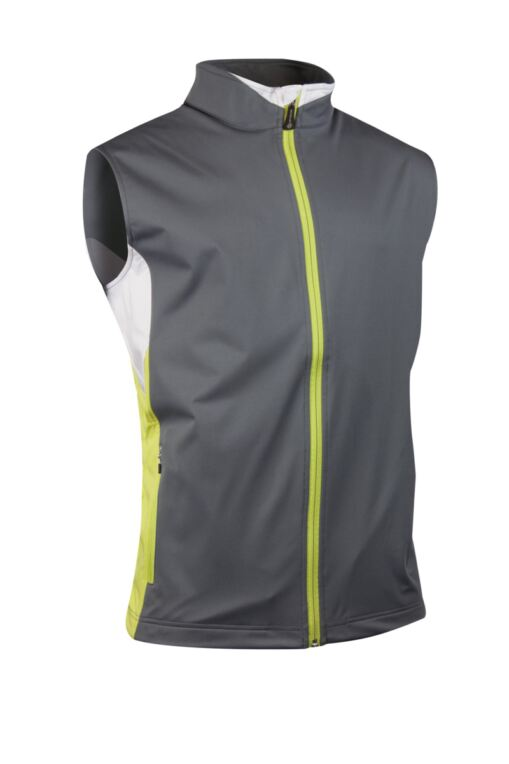 Mens Colour Block Zip Neck Golf Wind Gilet - Sale