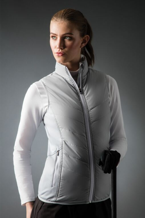 Ladies Padded Down Zip Front Performance Golf Gilet