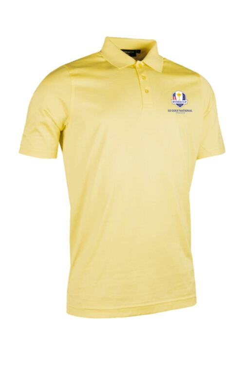 Official Ryder Cup 2018 Mens Plain Mercerised Golf Polo Shirt