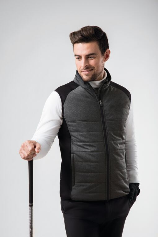 Mens Zip Front Padded Performance Golf Gilet