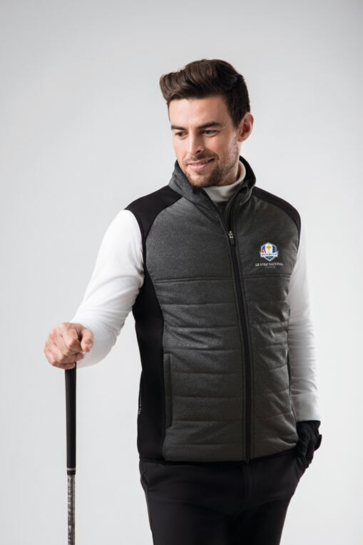 Official Ryder Cup 2018 Mens Zip Front Padded Performance Golf Gilet