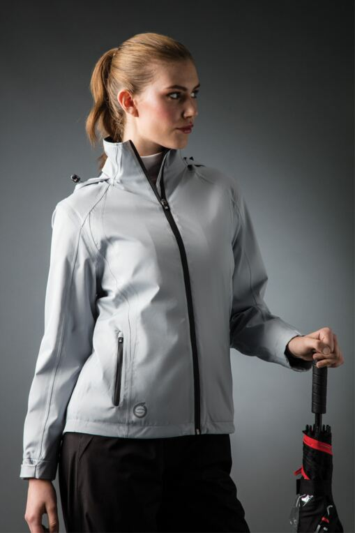 162c6c3a245 Ladies Zip Front Contrast Stitch Thermal Lined Waterproof Golf Jacket