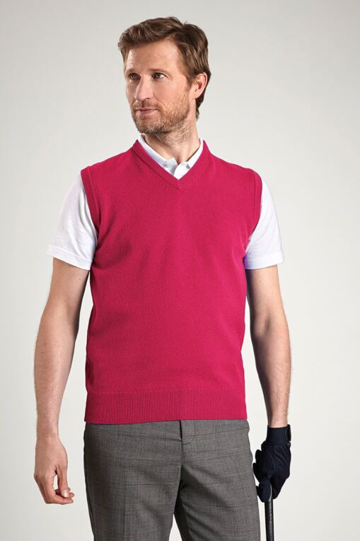 Windermere Lambswool Sleeveless Golf Slipover - Sale