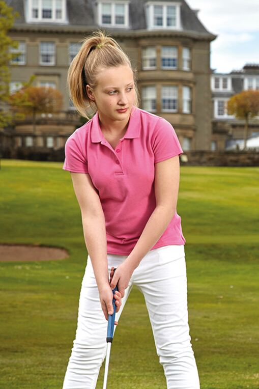 Girls Cotton Pique Polo Golf Shirt - Sale