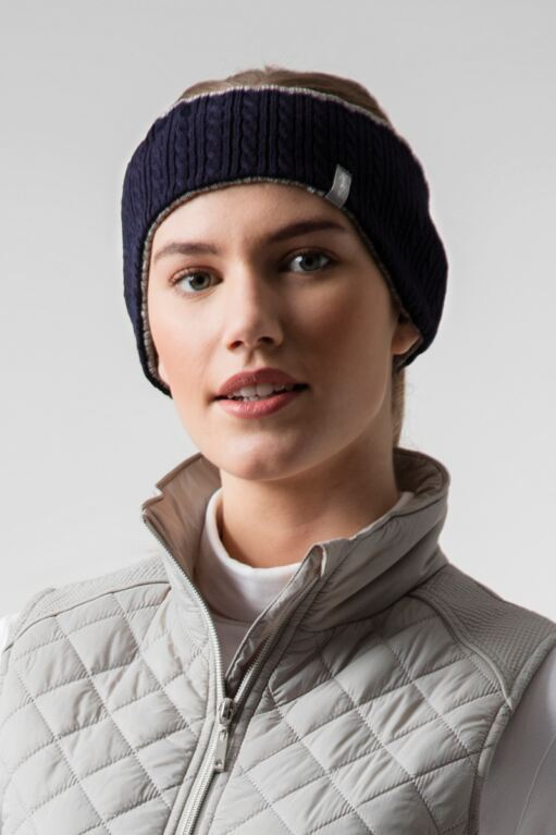 Ladies Reversible Cable Knit Golf Headband Sale