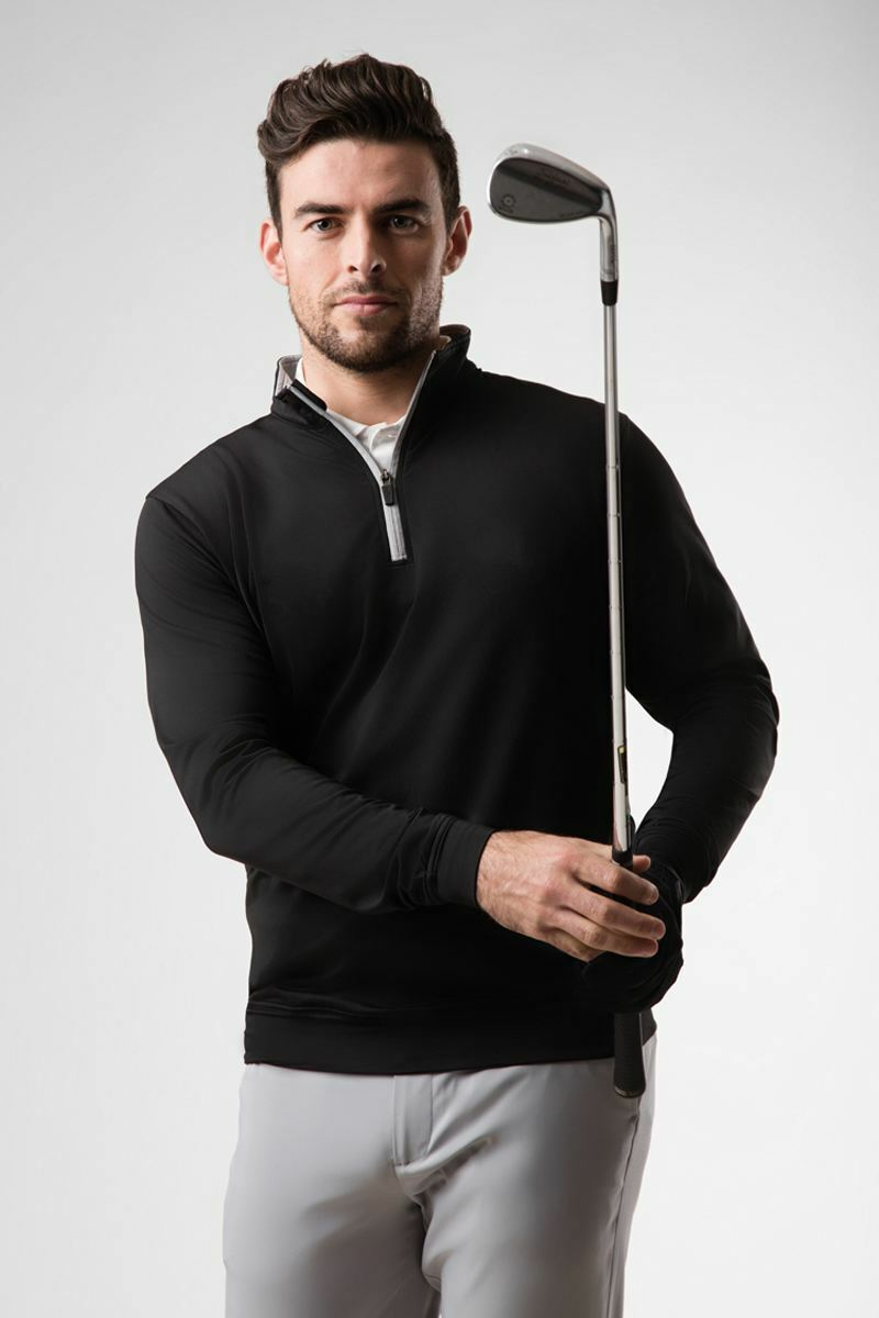Mens Zip Neck Lightweight Performance Golf Midlayer