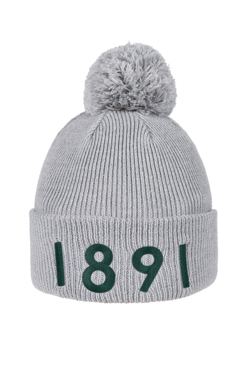 Mens And Ladies Thermal Lined Turn Up Rib Merino 1891 Heritage Bobble Hat