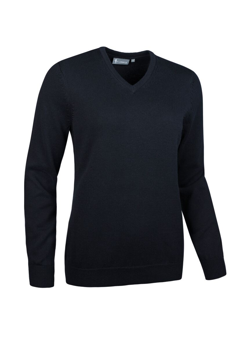 Ladies V Neck Touch of Cashmere Golf Sweater