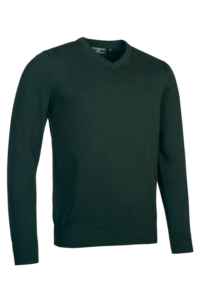 Mens V Neck Touch of Cashmere Golf Sweater