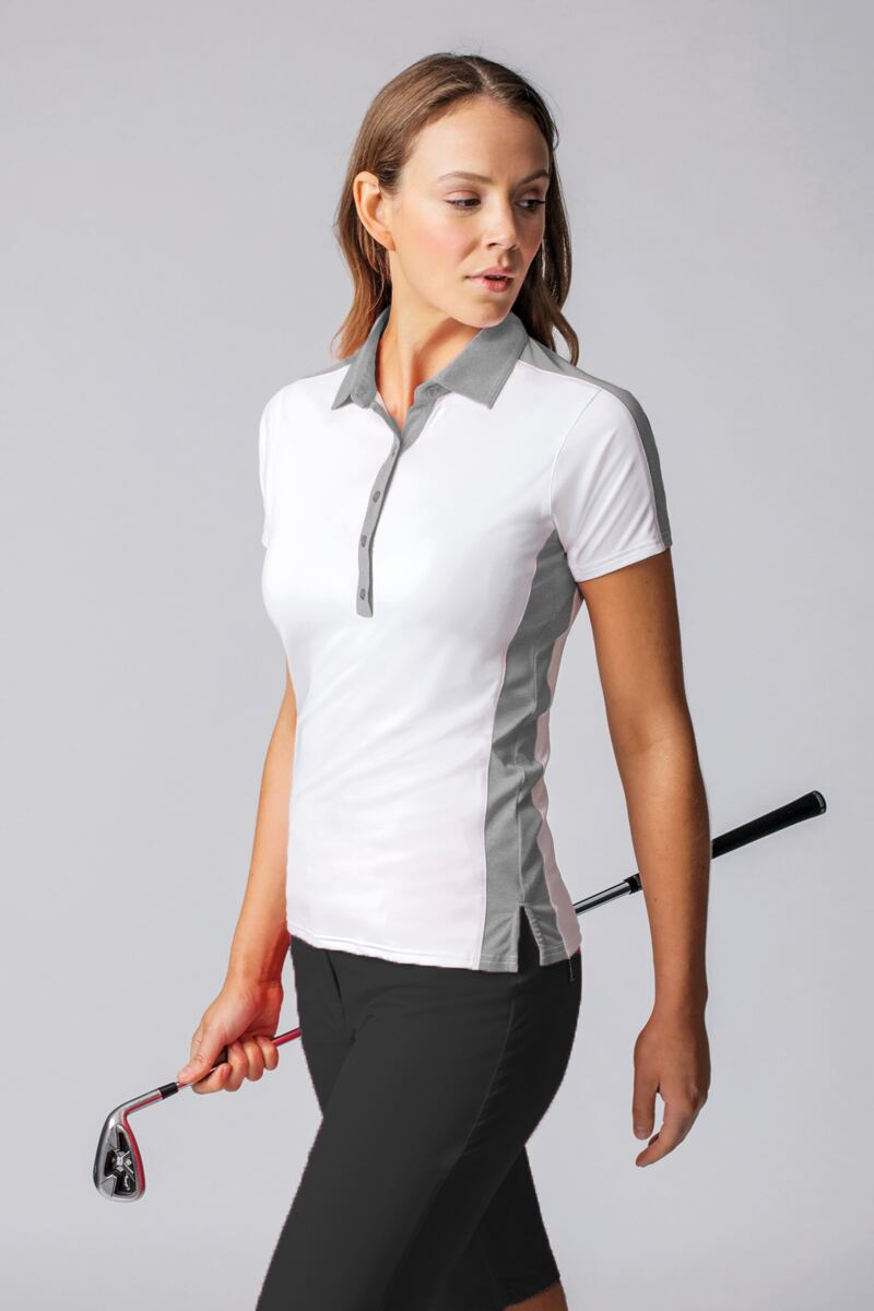 Ladies Melange Panel Performance Golf Polo Shirt - Sale