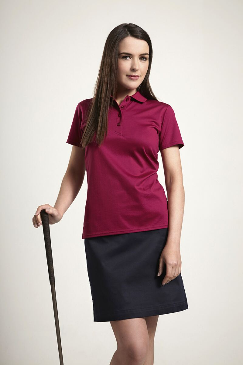 Michelle Mercerised Cotton Shaped Fit Golf Shirt - Sale