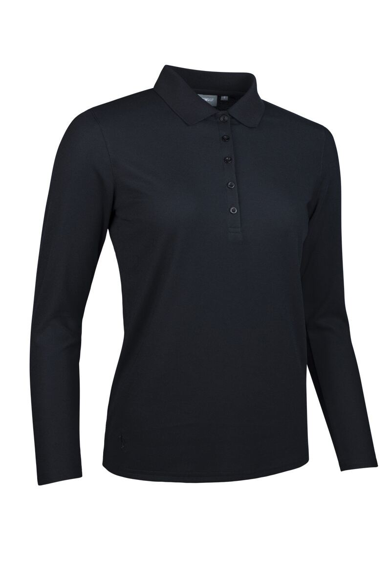 Ladies Long Sleeve Performance Pique Golf Polo Shirt